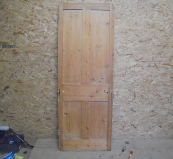 4 Panelled Pine Stripped Door
