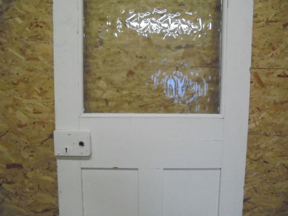 White Half Glazed Door