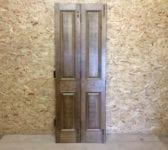 Oak 4 Panelled Split Fold Door