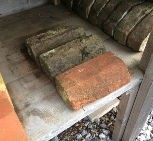 Weathered Reclaimed Handmade Plinth Bricks