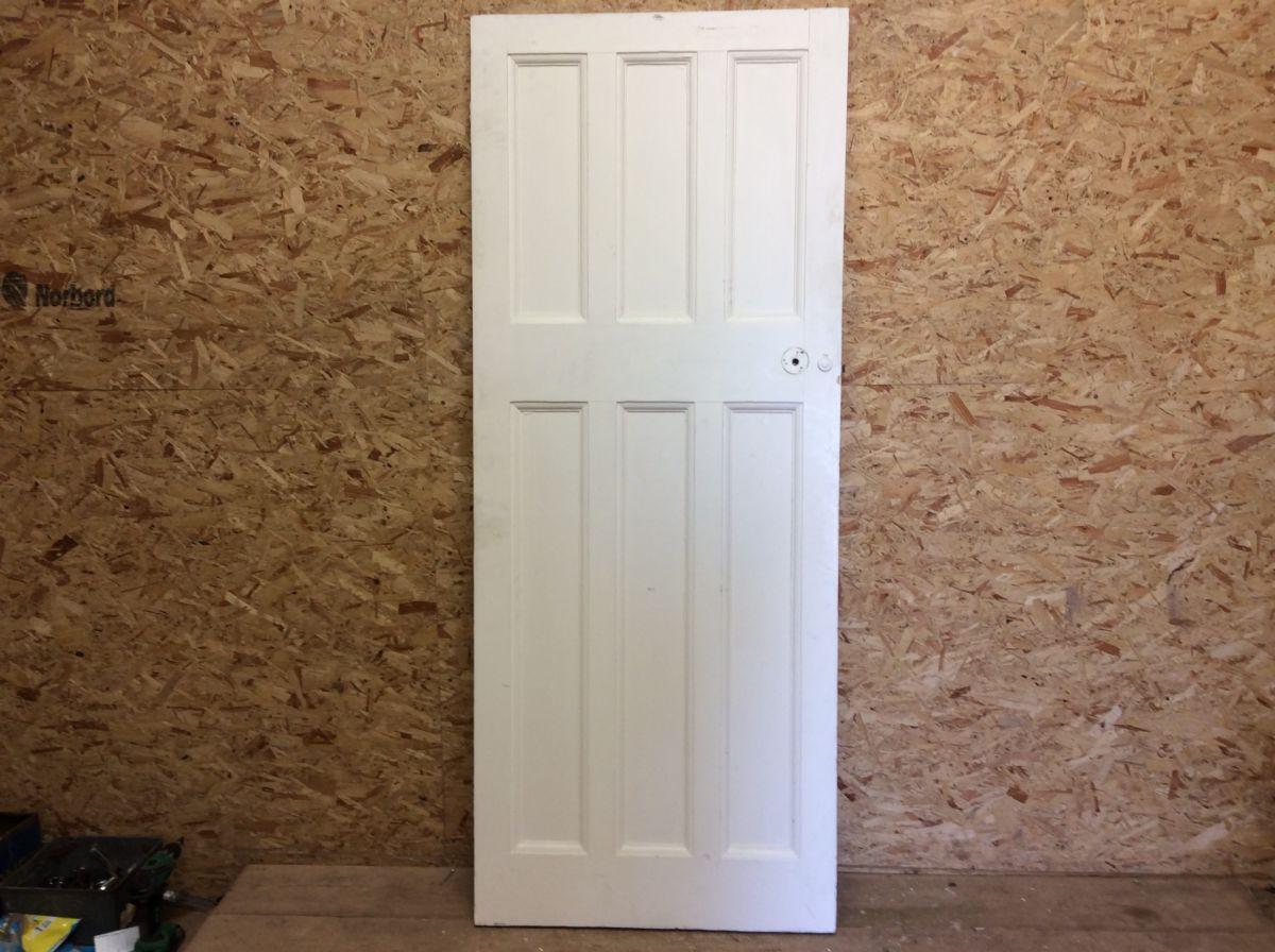 3/3 White 6 Panel Door