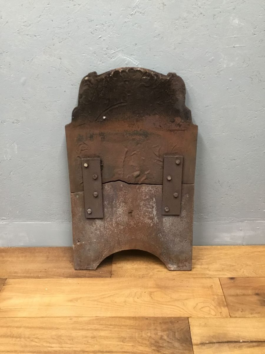 Repaired Cast Iron Fire Back