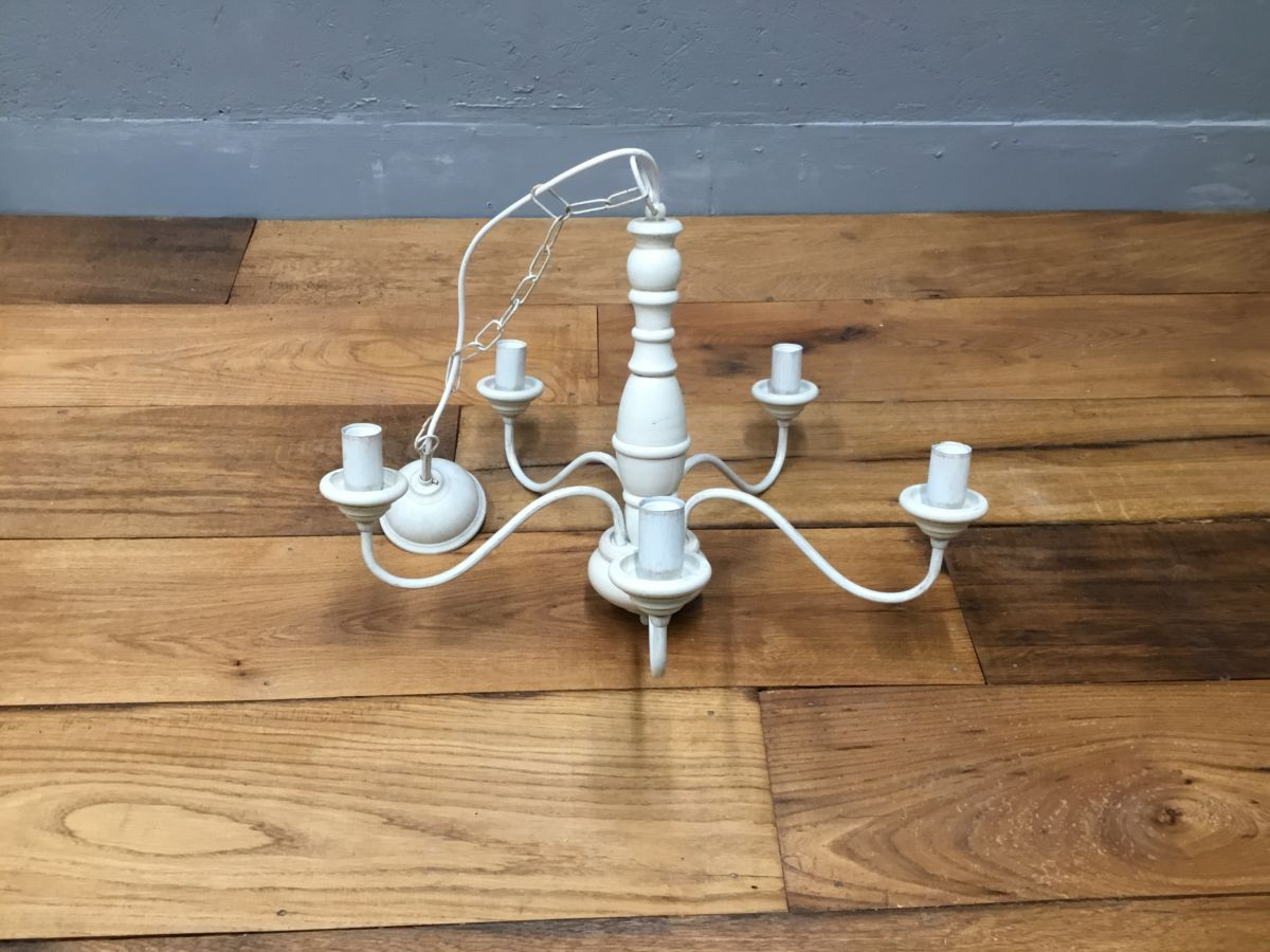 White Candle Style Chandelier
