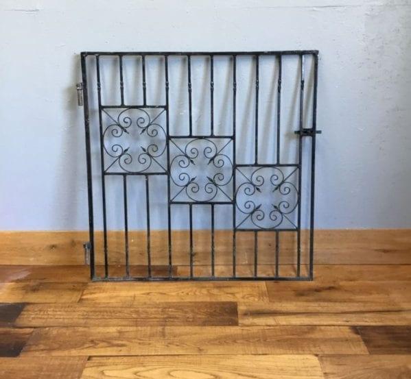 Wrought Iron Decorative Three Panel Gate
