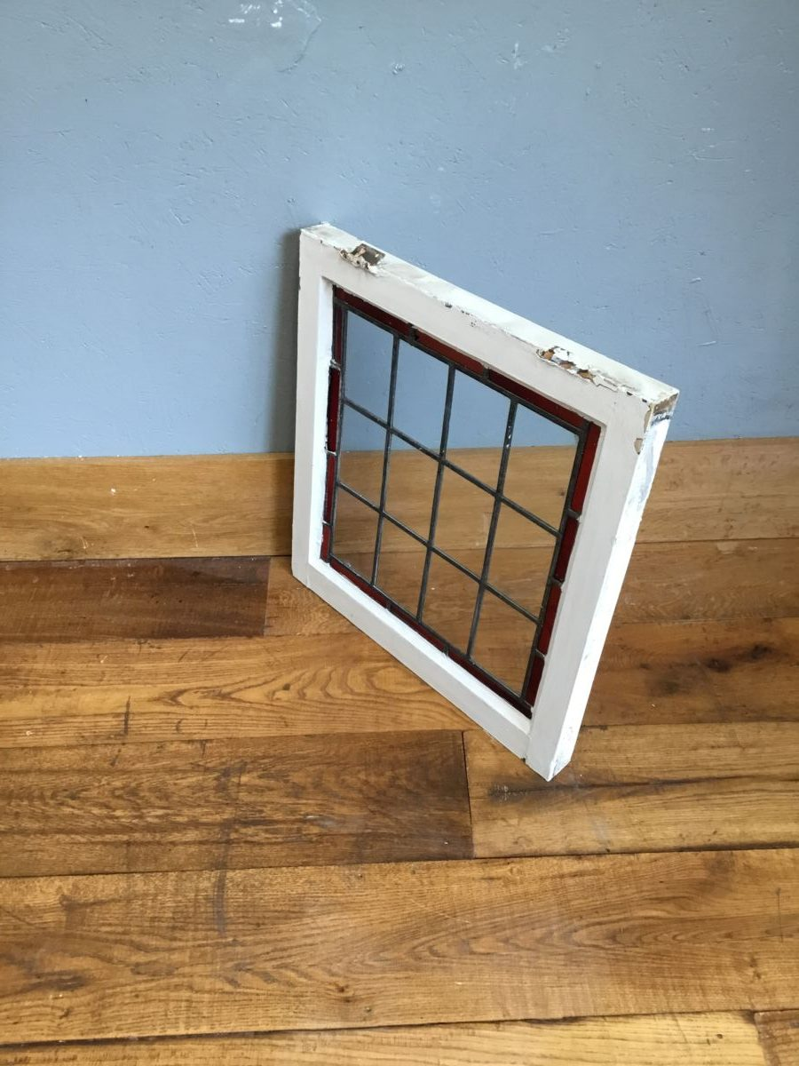 Large Clear & Red Window