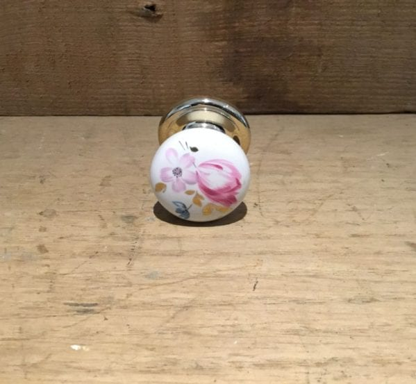 Floral Painted Door Knob