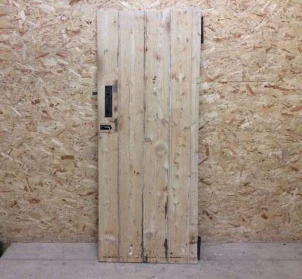 Small Stripped Ledge & Brace Door