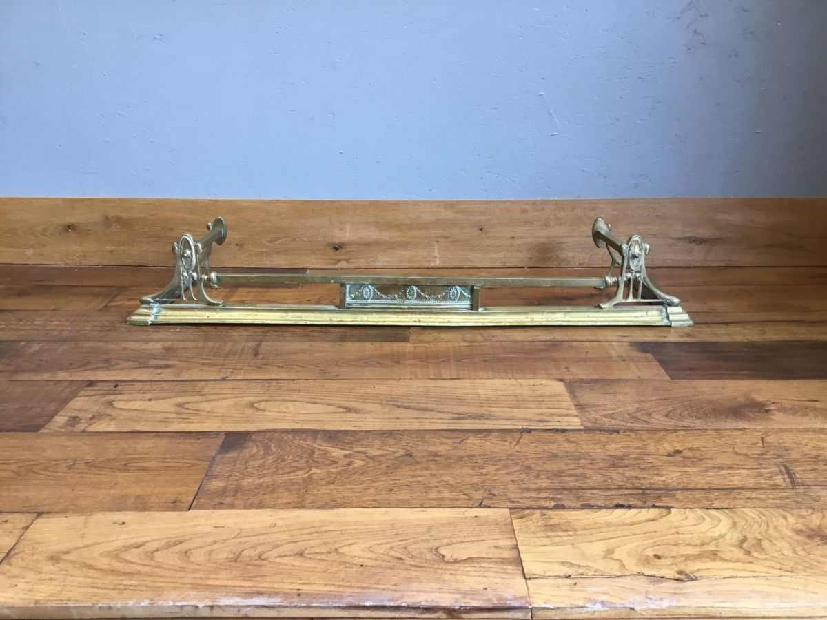 Brass Art Nouveau Fire Fender