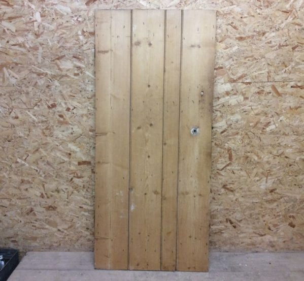 Medium Stripped Ledge & Brace Door