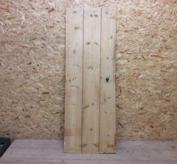 Narrow Stripped Ledge & Brace Door