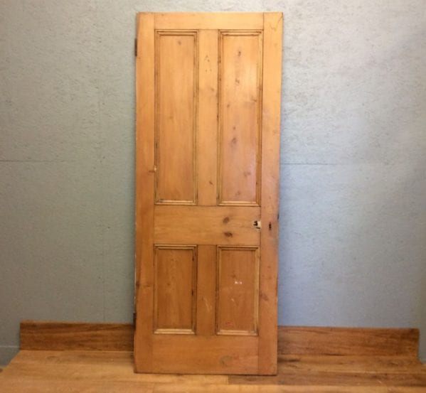 4 Panelled Stripped Natural Door