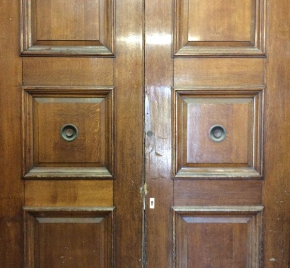 Grand Oak 3 Panelled Double Doors