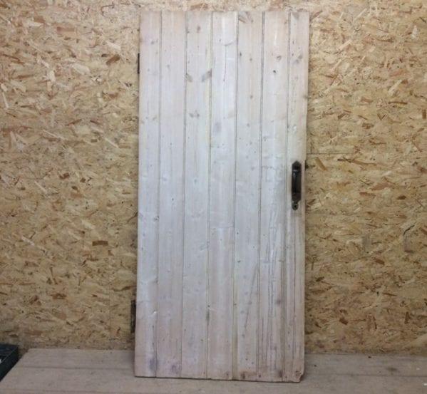 Large Stripped Ledge & Brace Door