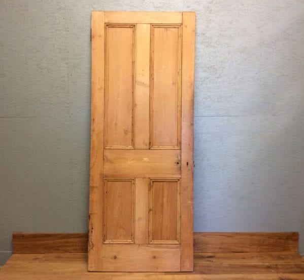 Natural Stripped 4 Panelled Door
