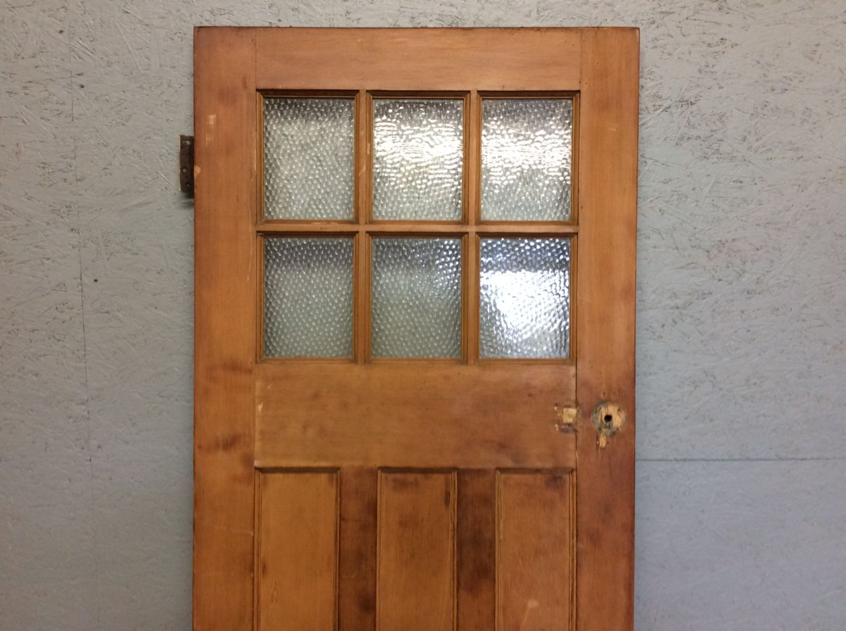Stripped Part-glazed 1 Over 3 Style Door