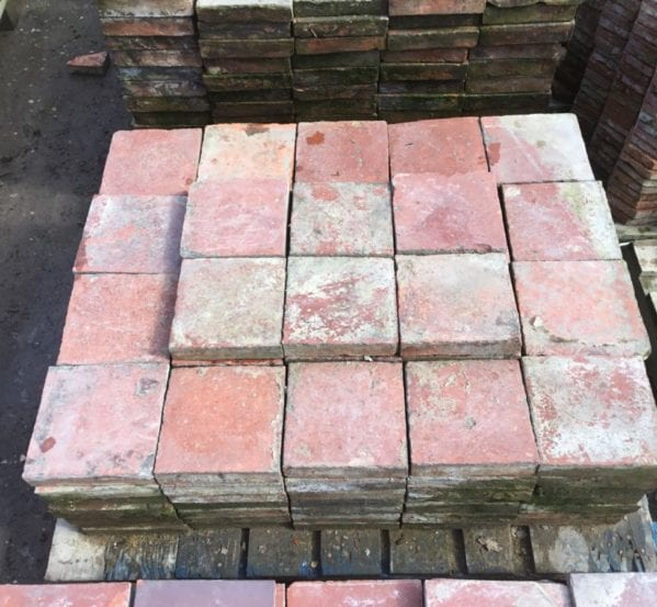 Large Reclaimed English Quarry Tiles