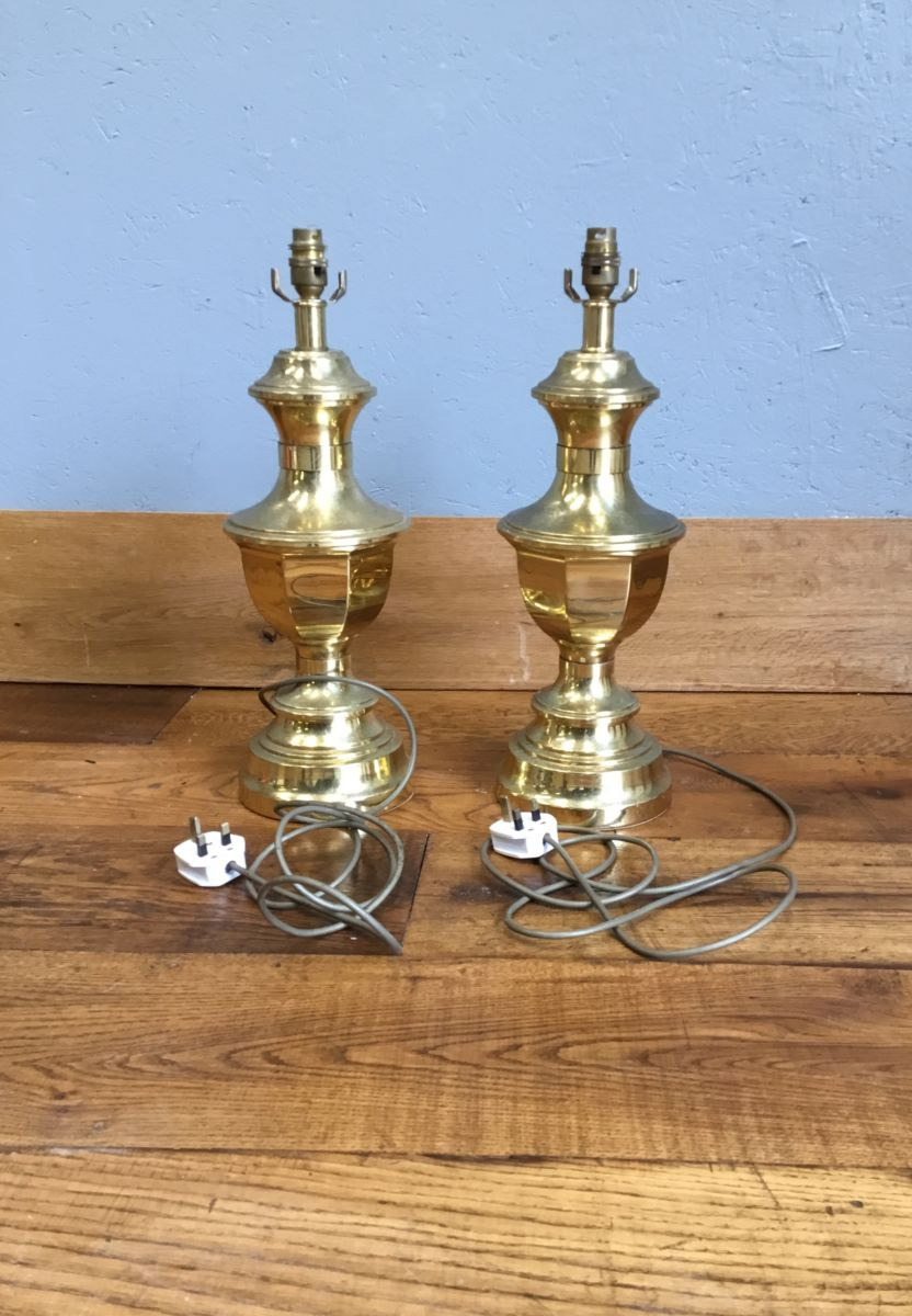 Gold Finish Lamp Stands