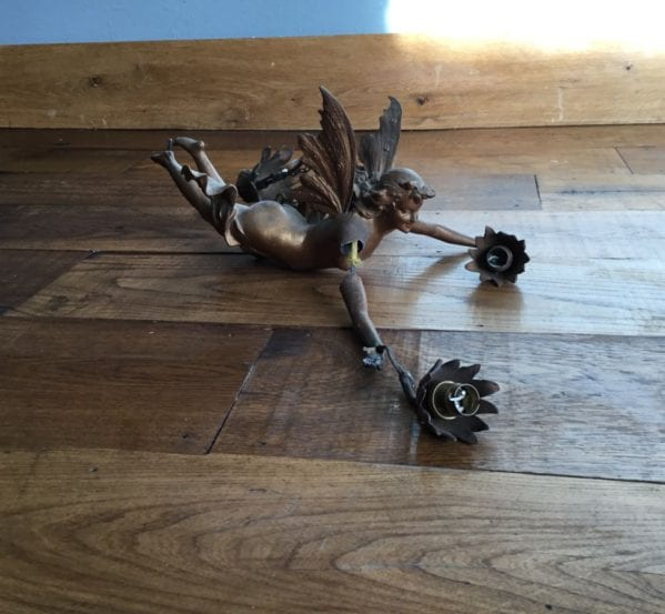 Reclaimed Angel Light Holder