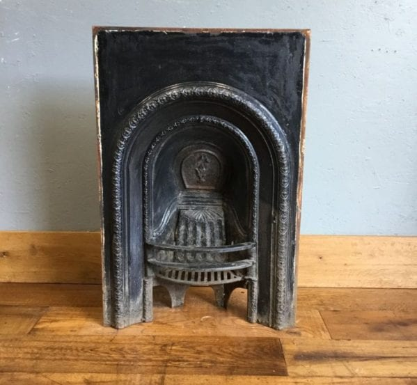 Small Black Cast Iron Fire Insert
