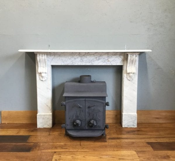 Large Grey Marble Fire Surround