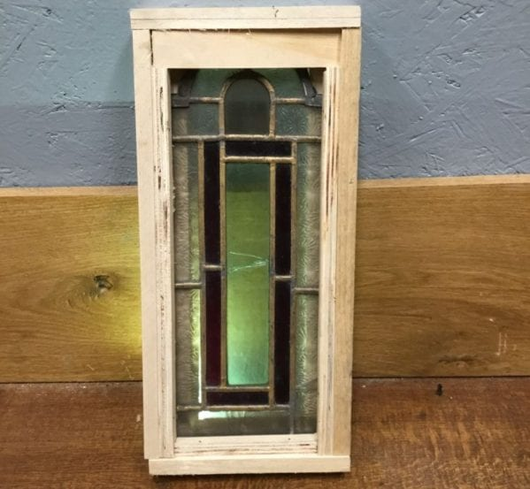 Small Frosted & Red Glass Window
