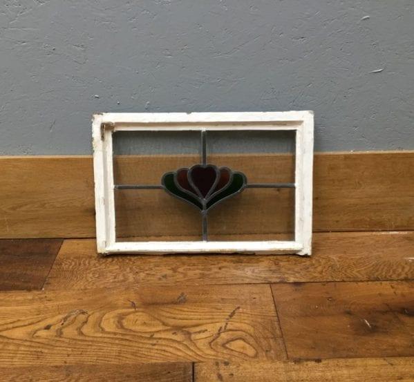 Small Lead Flower Glass Window