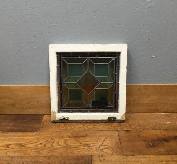 Square Multi Coloured Stained Window