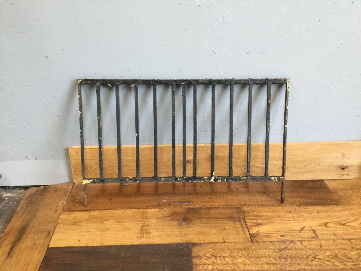 Plain Black Iron Low Railings