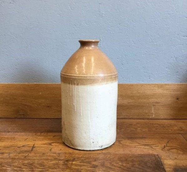 Large Stoneware Salt Glazed Bottle