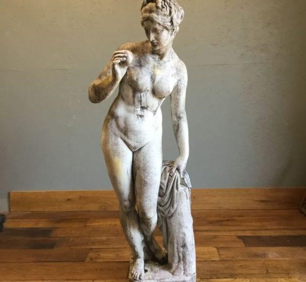 Lady & Apple Statue