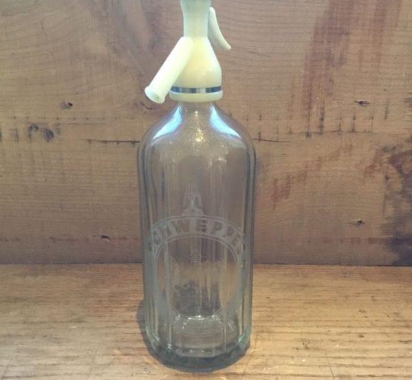 Glass Schweppes Soda Syphon