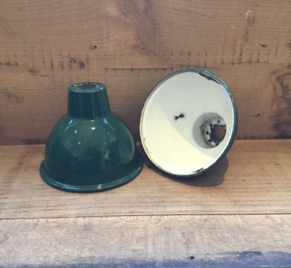 French Green Enamel Pendant Shades