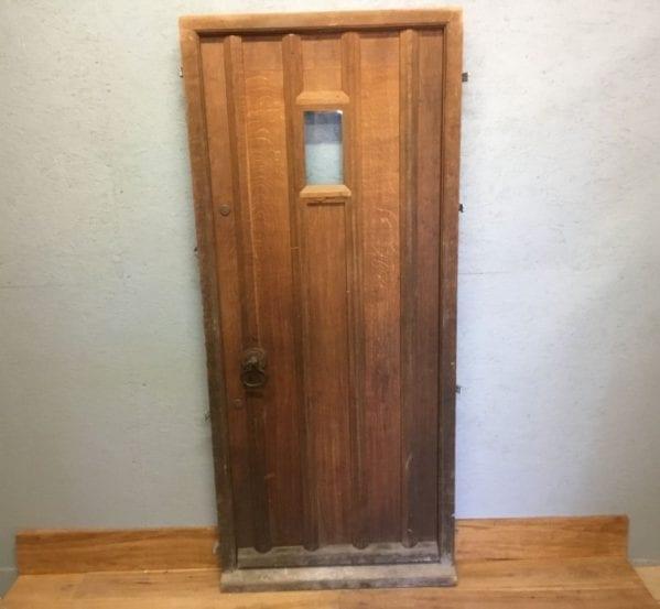 Reclaimed Framed Oak Ledge Front Door