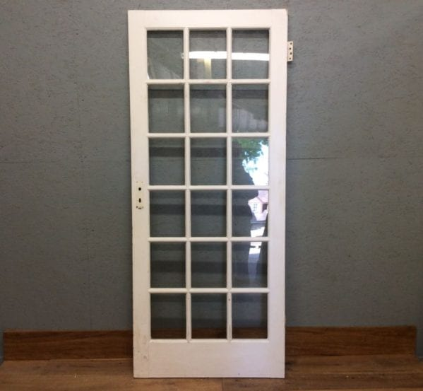 Fully Glazed White Door