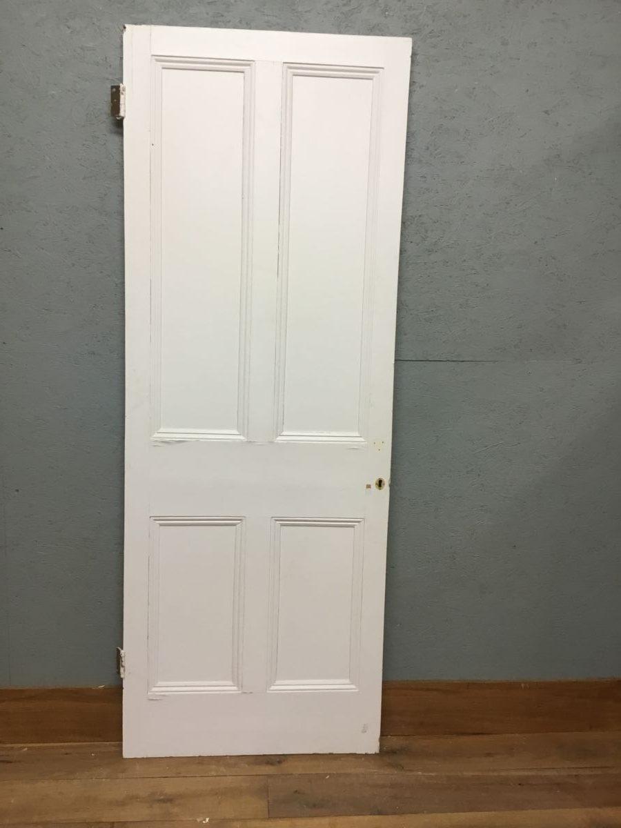 Part Beaded Reclaimed 4 Panel Painted Door