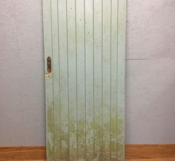 Painted Reclaimed Ledge and Brace Door