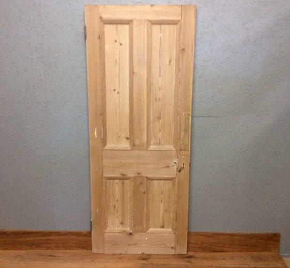 Stripped Reclaimed Beaded 4 Panel Door