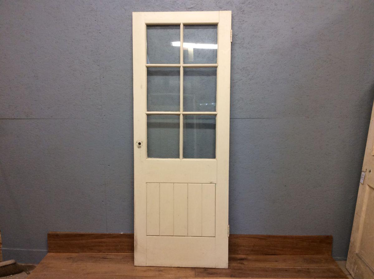 Grey Half Glazed Doors