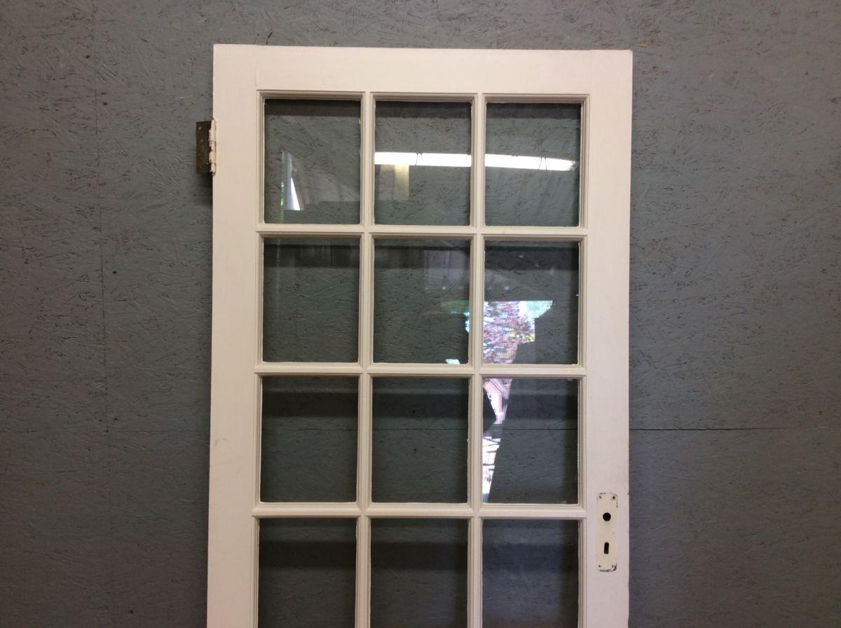 Fully Glazed White Door