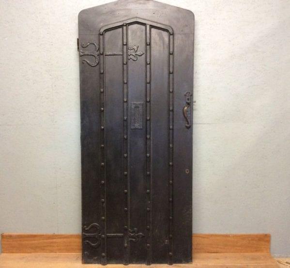 Ledge & Brace Heavy Black Front Door