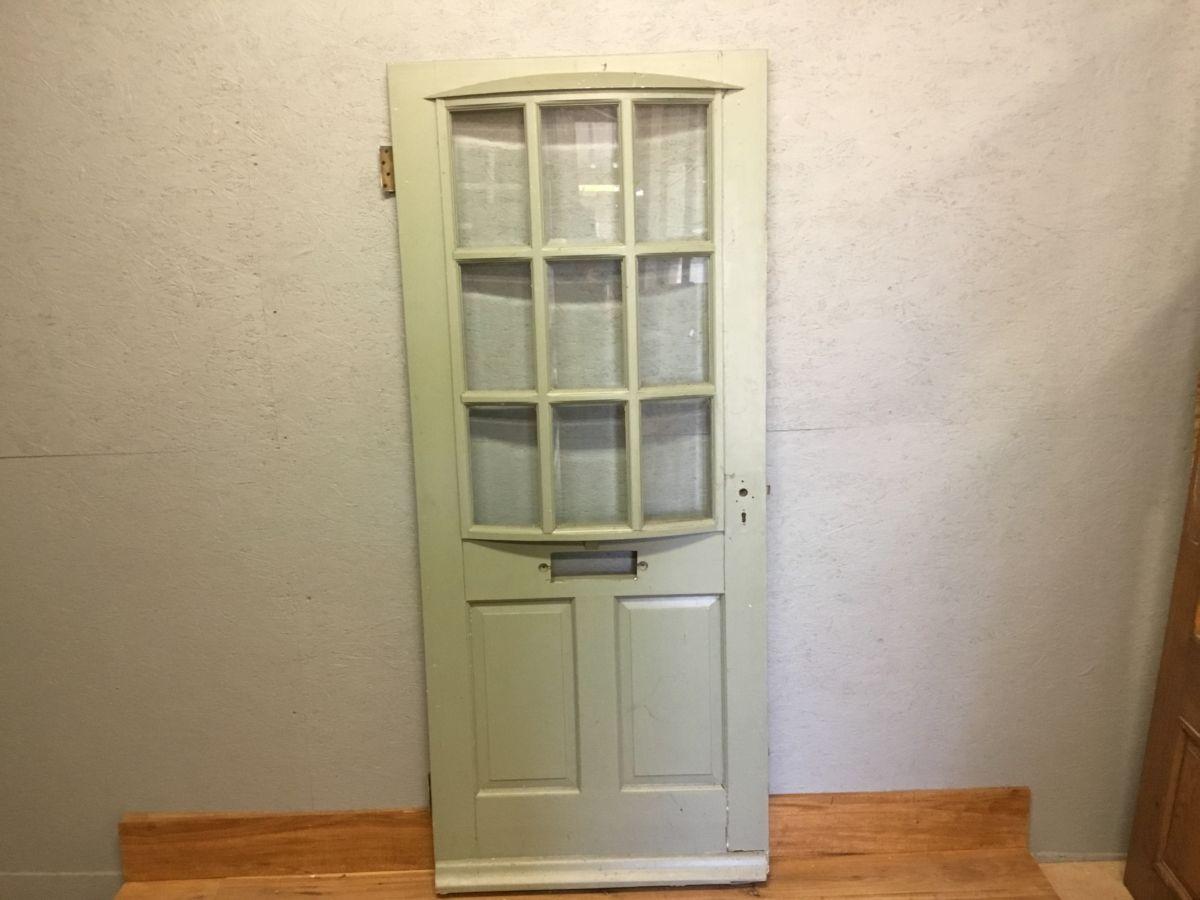 Reclaimed Half Glazed Curved Front Door