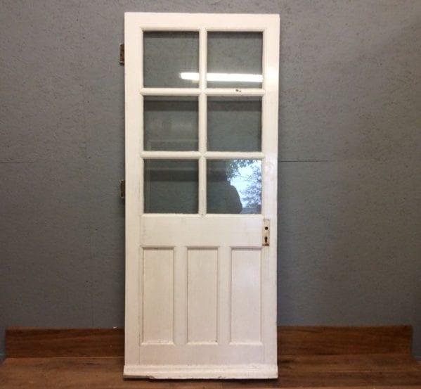 White Half Glazed Door