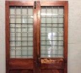 Lead Lined Half Glazed Double Doors