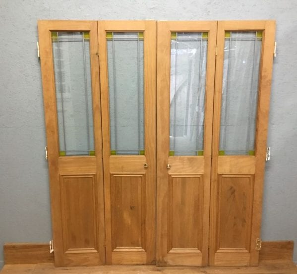 Reclaimed Bi Fold Pine Door Pair