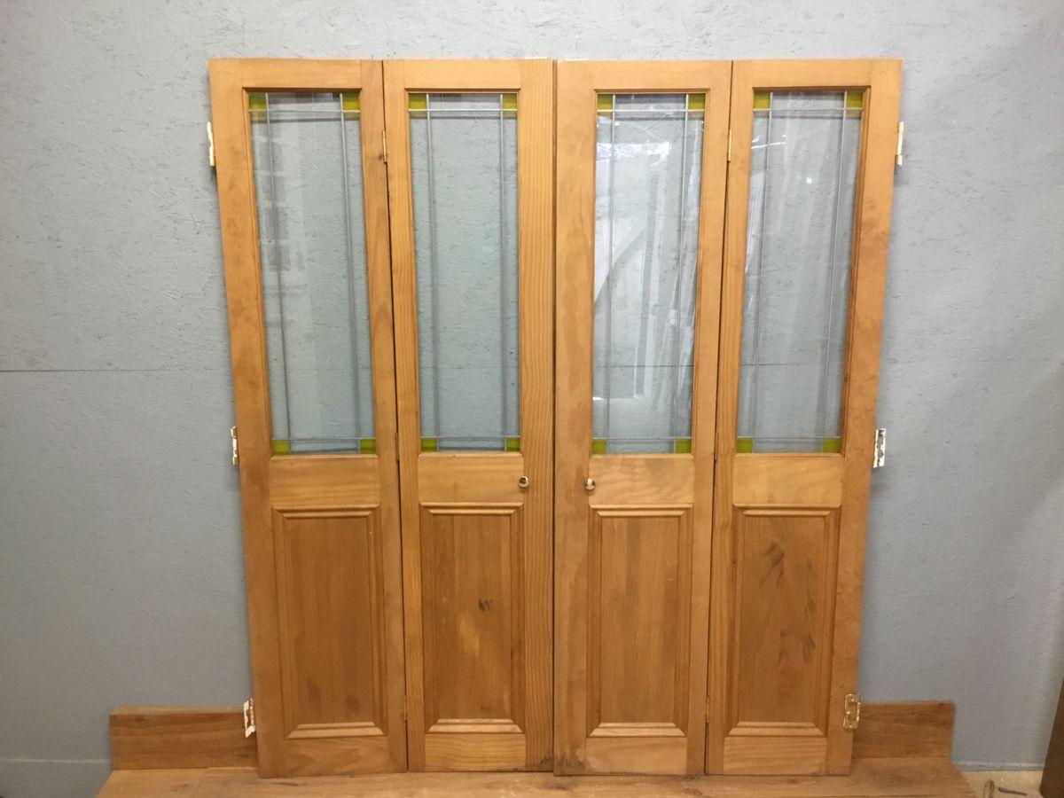 Reclaimed Bi Fold Pine Door Pair