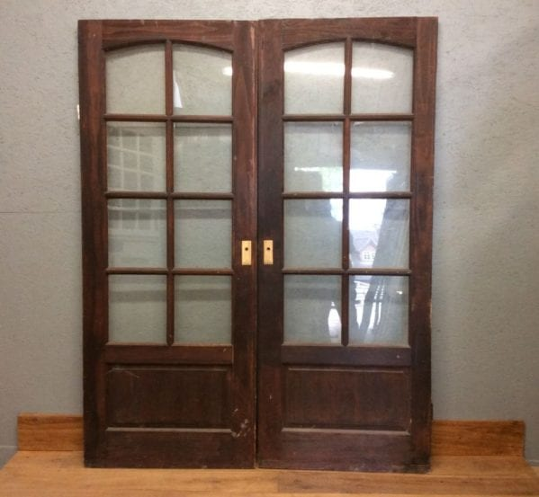 Half Glazed Dark Double Doors