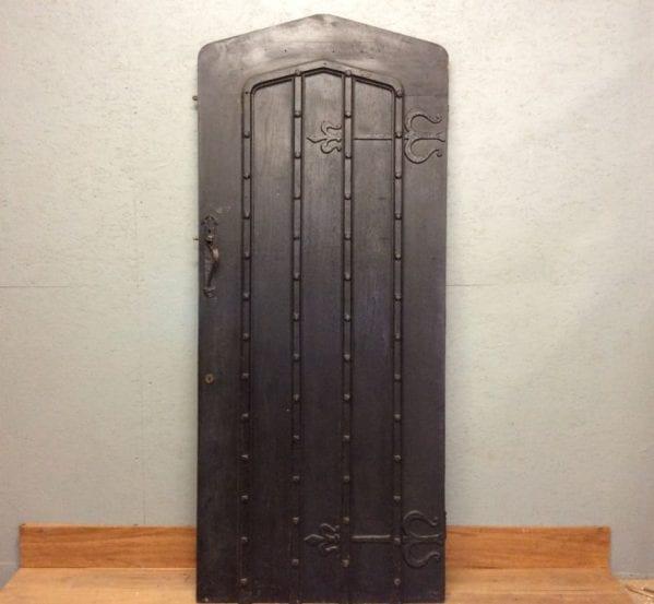 Black Heavy Ledge & Brace Front Door