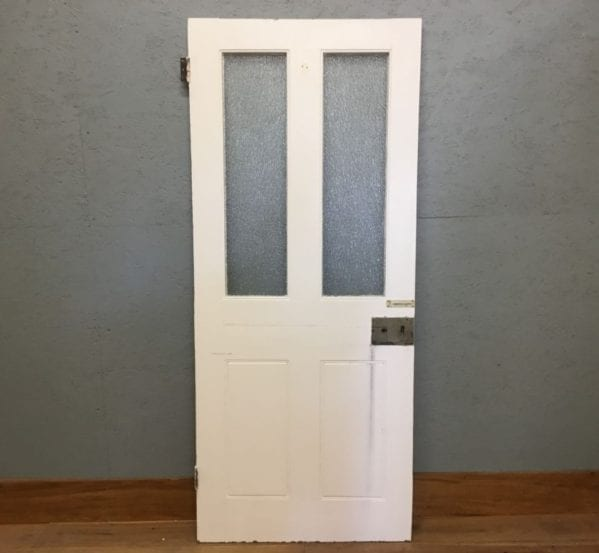 Half Glazed White 4 Panelled Door