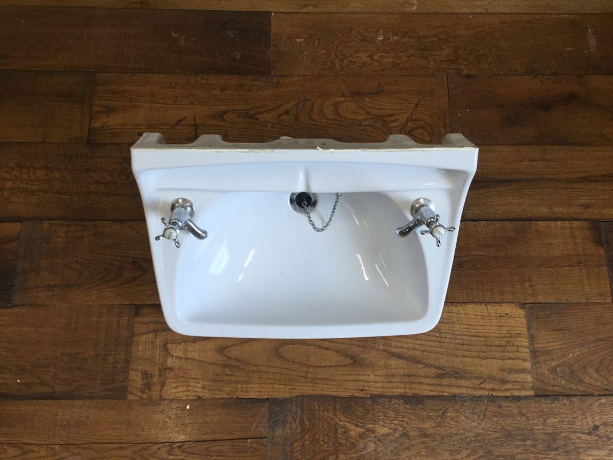 Large White Sink & Taps