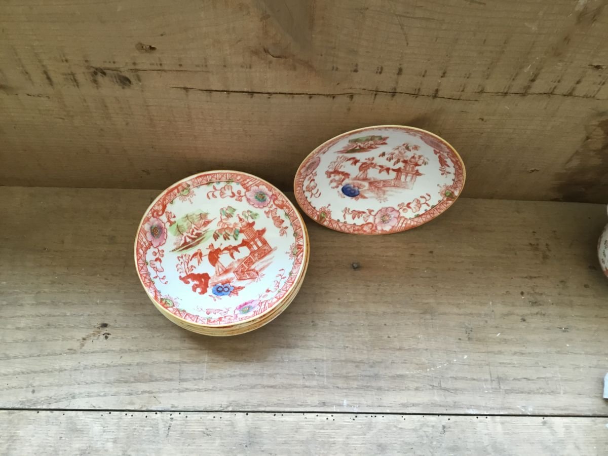 Orange Floral Bowls